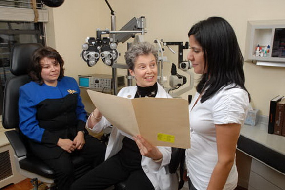 CYNTHIA J. MACKAY, M. D., is a board-certified ophthalmologist